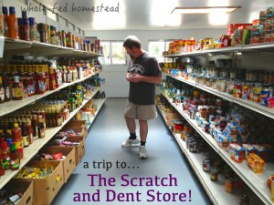 A trip to the Scratch and Dent Store w Words