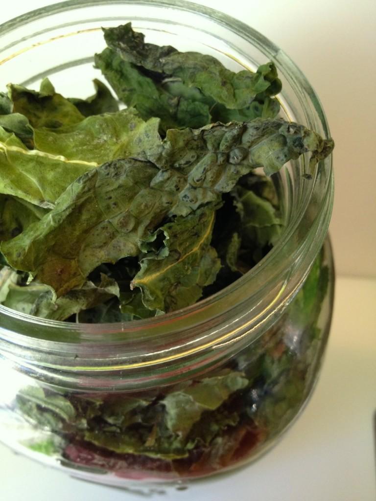 kale chips jar