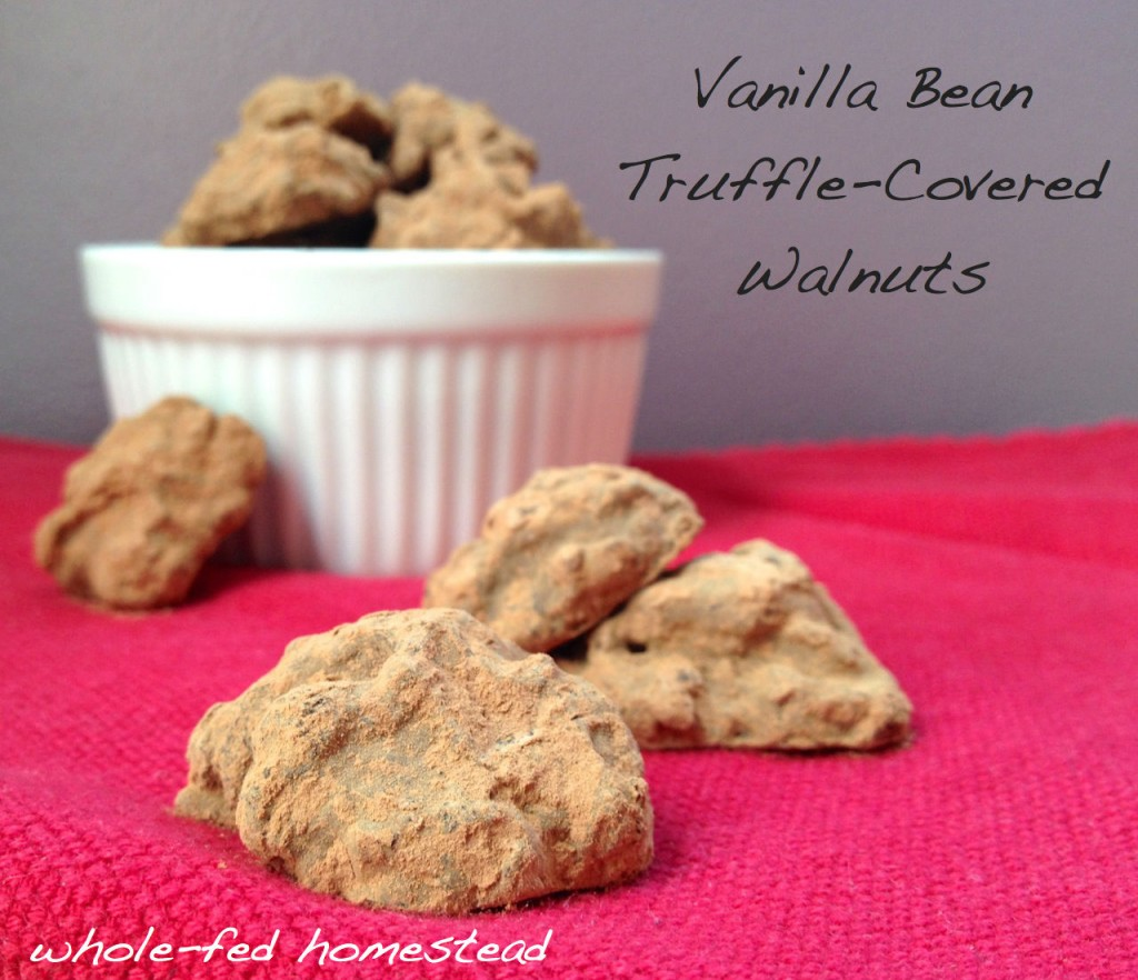 Vanilla Bean Truffle Covered Walnuts w Words