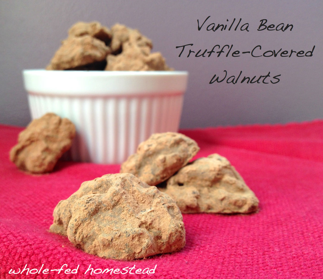 Vanilla Bean Truffle-Covered Walnuts for Valentine's Day