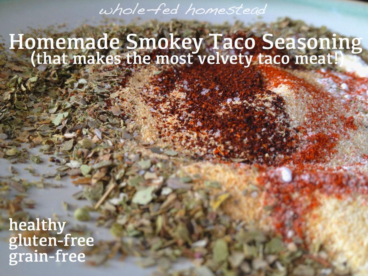 Homemade Smokey Taco Seasoning that Makes the Most Velvety Taco Meat