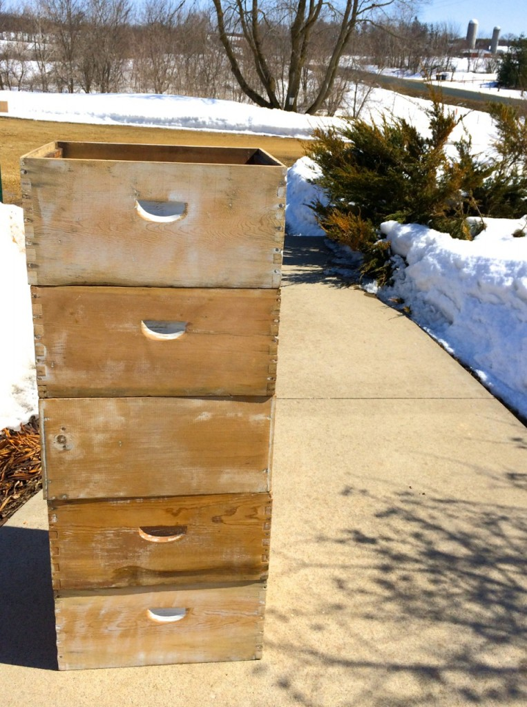 bee hive stack