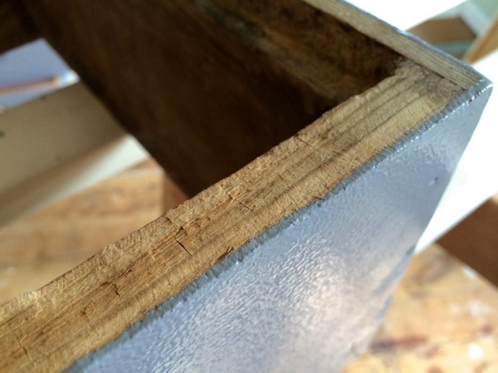 bee hive top edge paint