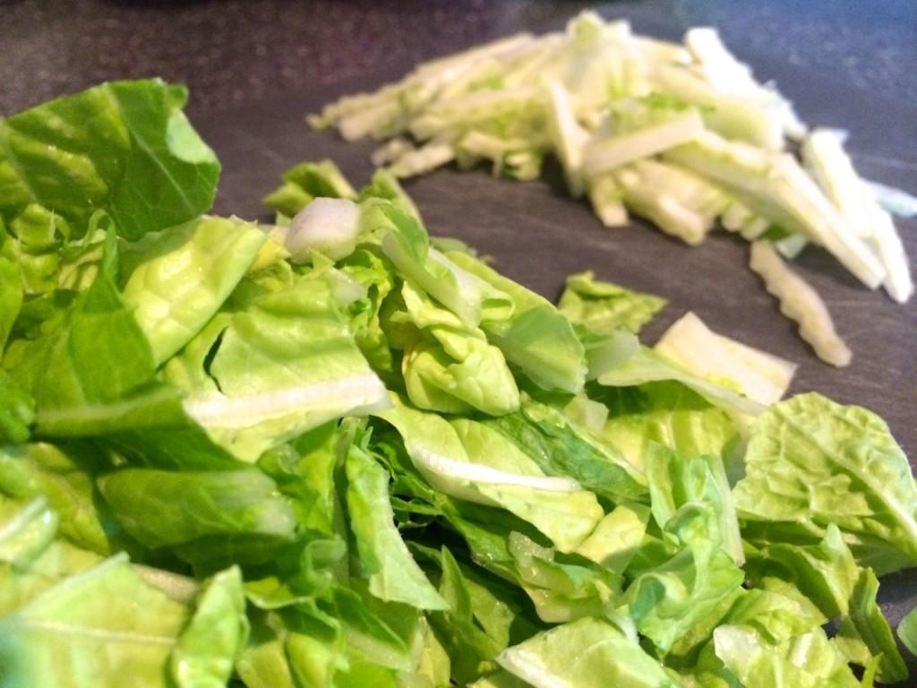 napa cabbage cut