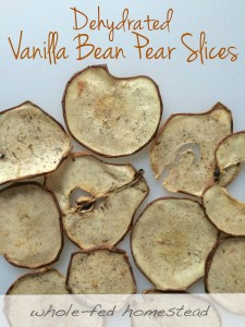 Dehydrated Vanilla Bean Pear Slices