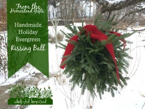 Homestead Gifts: Handmade Holiday Evergreen Kissing Ball