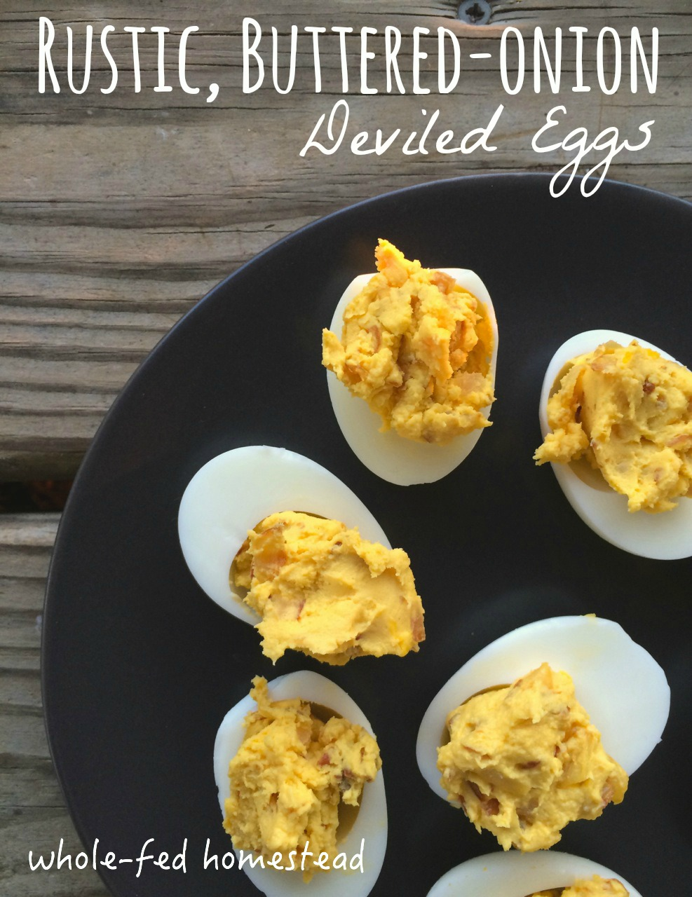 Rustic Buttered Onion Deviled Eggs Featured
