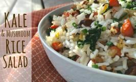 Kale Mushroom Rice Salad 2 Feature