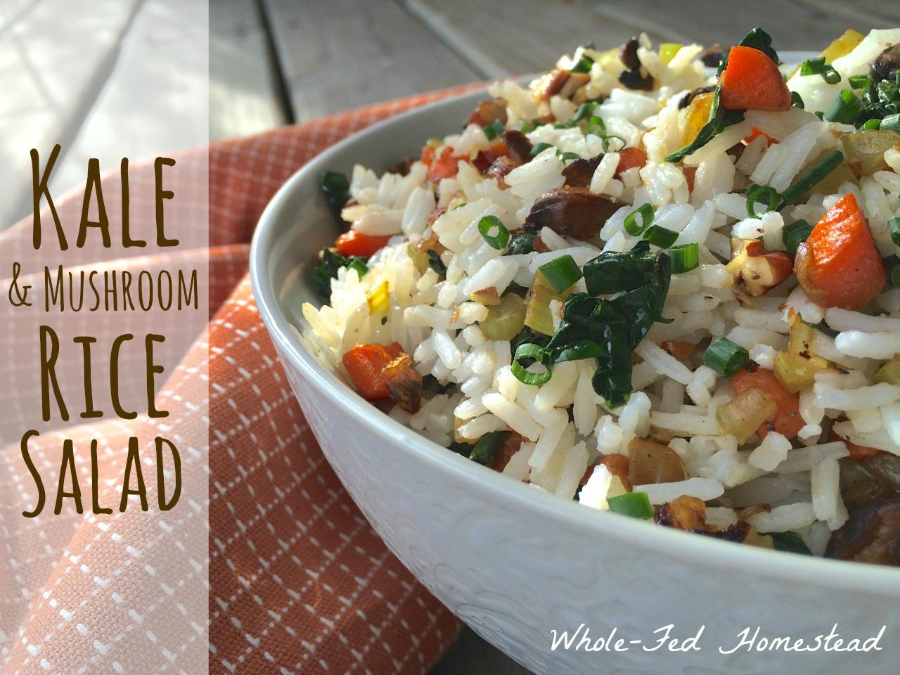 Side Dish Series: Kale & Mushroom Rice Salad