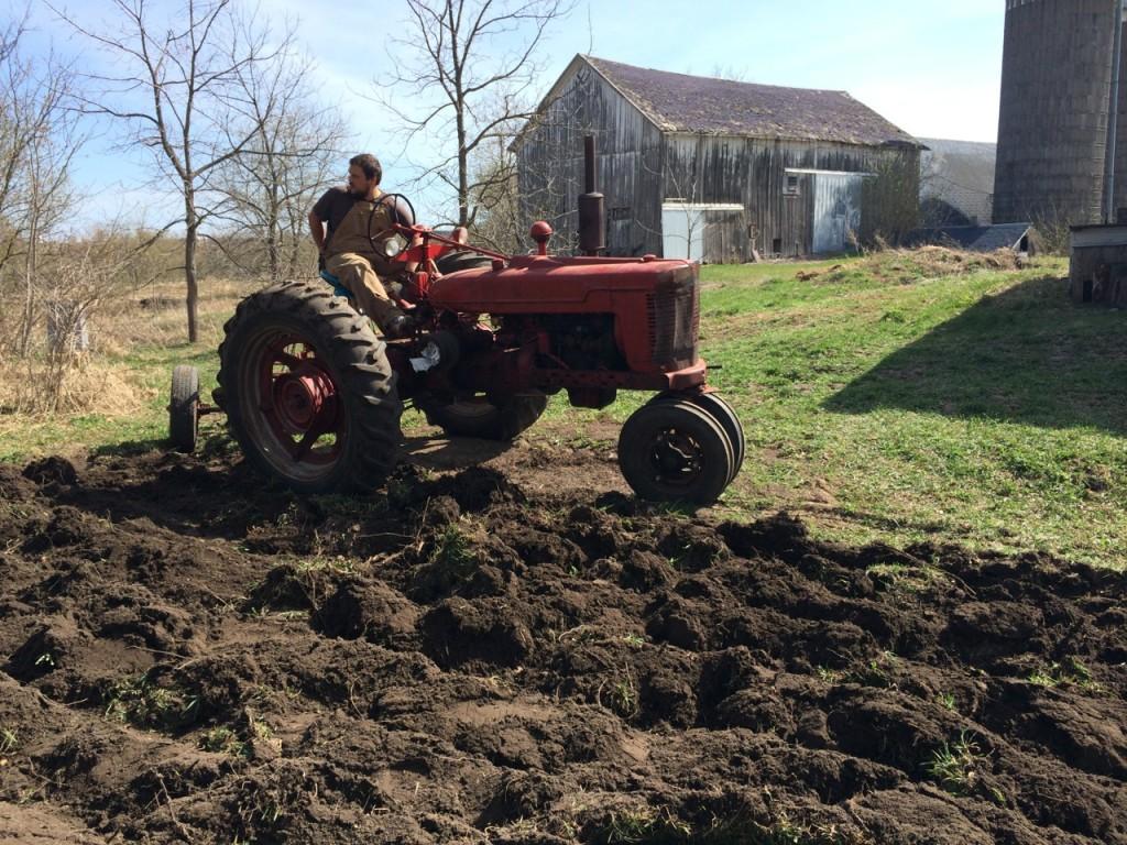 Karl plowing