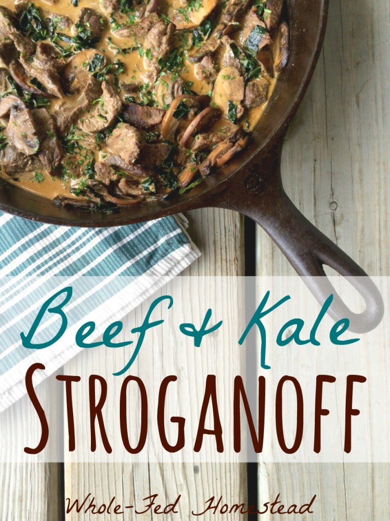 Beef and Kale Stroganoff