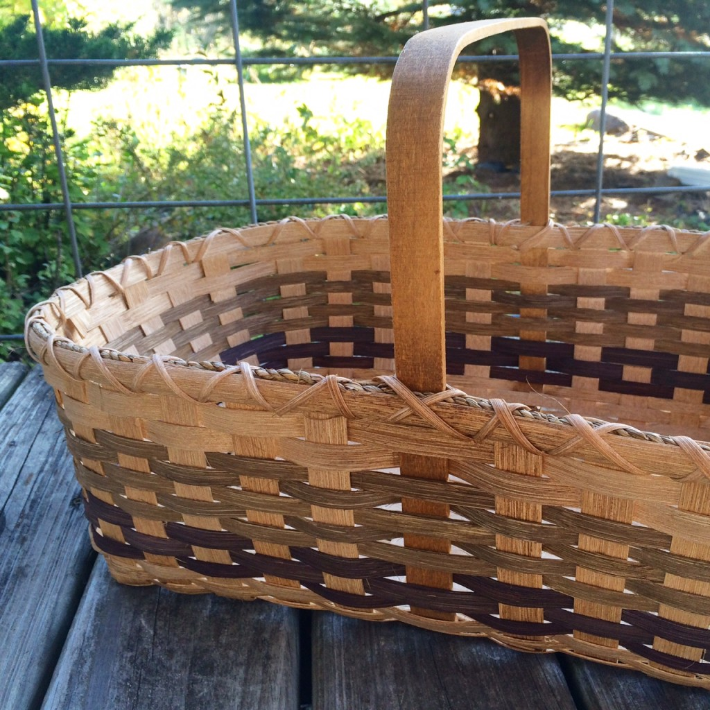 Making a market basket, Our monthly homestead update! Egg-famine, preserving the harvest, planting, and basket-making... there's always a lot happening on the homestead! Whole-Fed Homestead