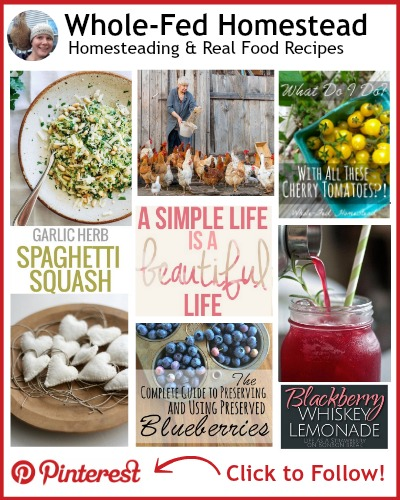 Wholefed Homestead Pinterest Sidebar