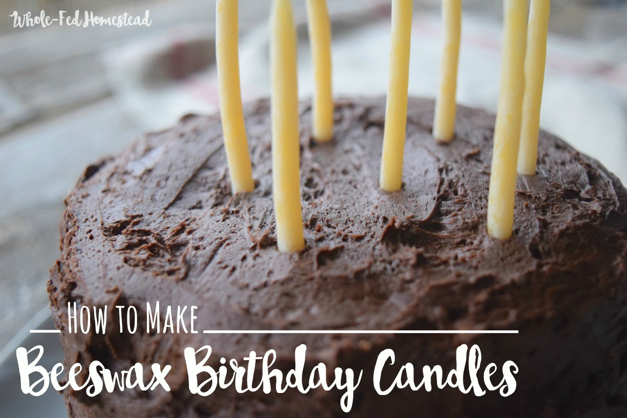 How to Make Beeswax Birthday Candles | Whole-Fed Homestead