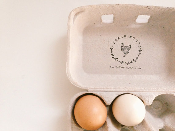 Fresh Eggs from stamp