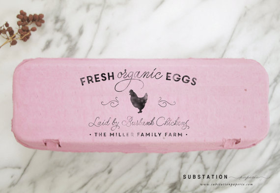 Fresh organic eggs carton stamp