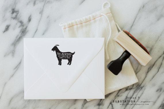 Goat stamp