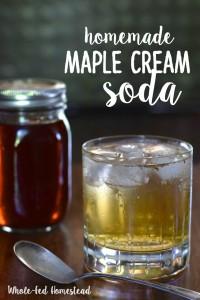 Maple Cream Soda Homemade
