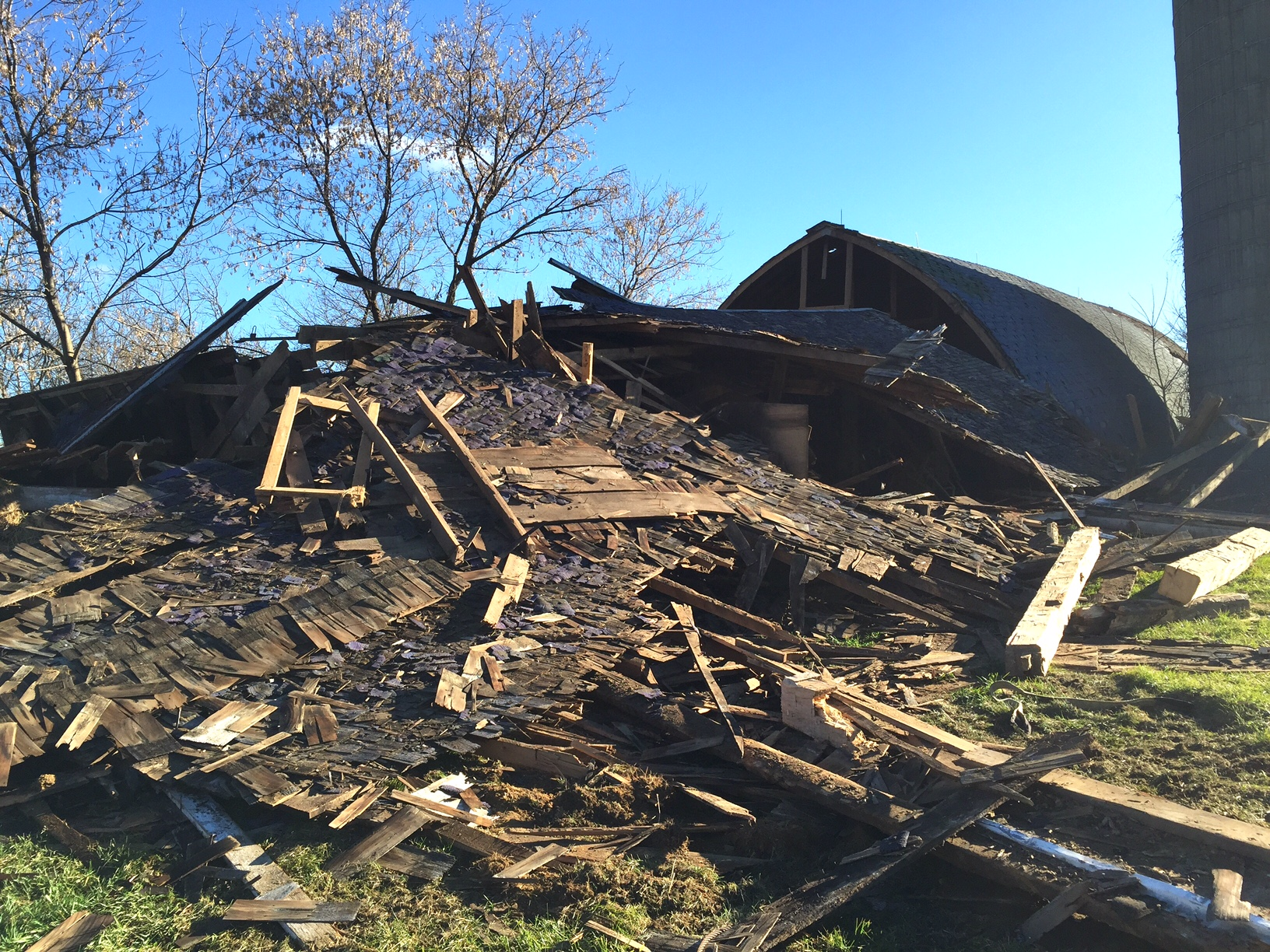 old barn, Homestead Monthly: November {barn demolition, butchering, and winter preparations} | Whole-Fed Homestead