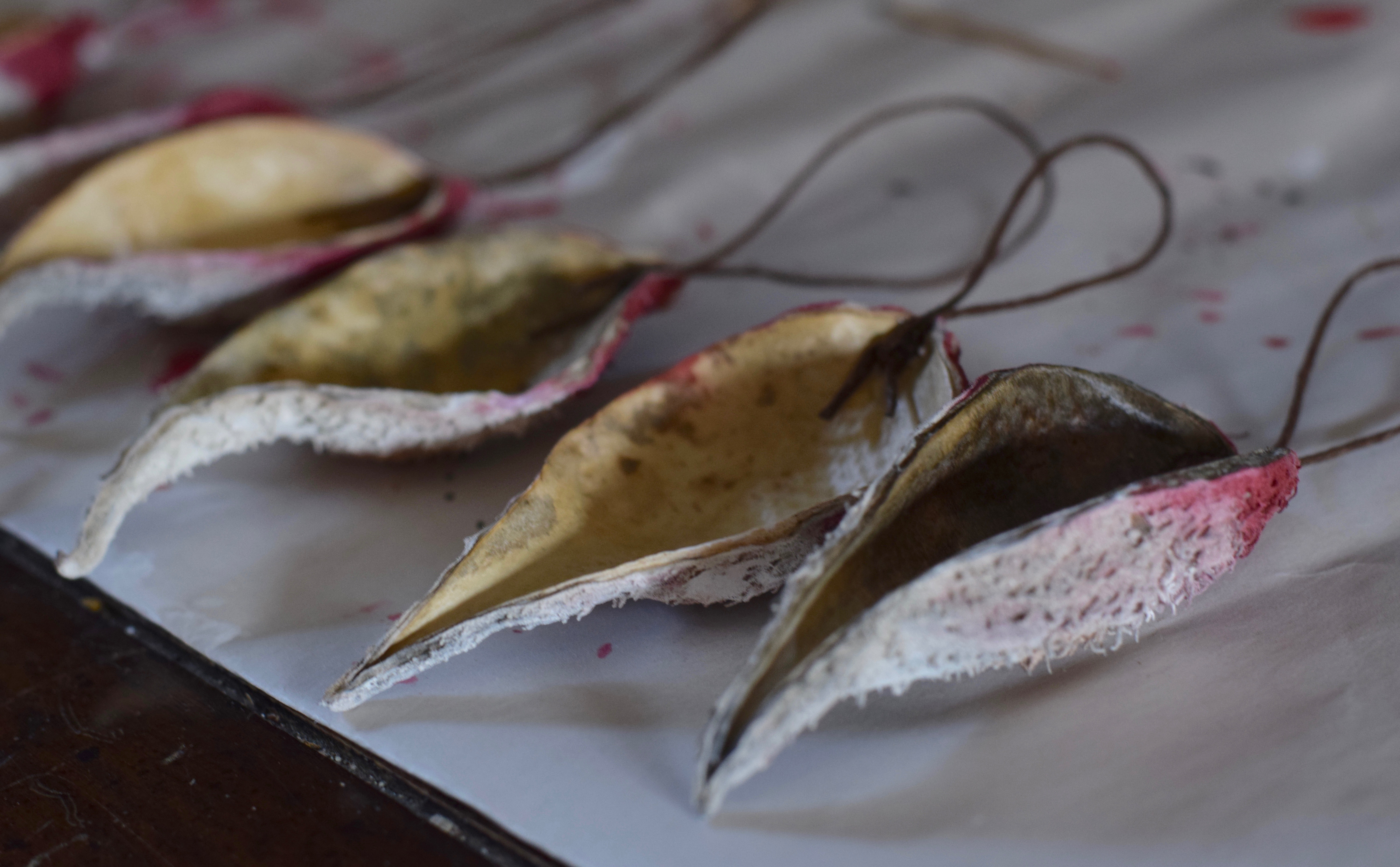 Milkweed Pod Santa Ornaments {Handmade Gift} Rustic Natural Inexpensive Present | Whole-Fed Homestead