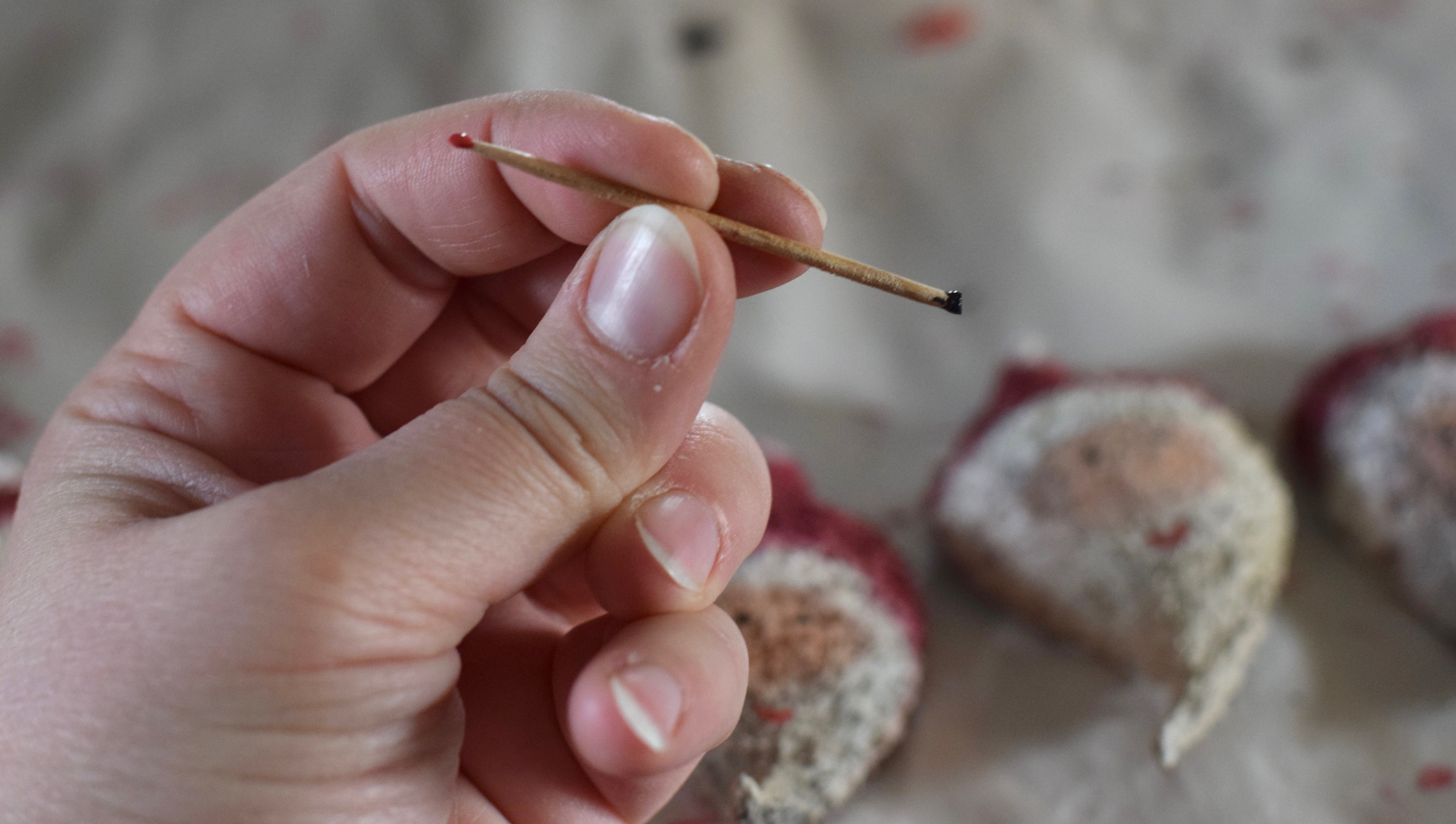 milkweed-pod-santa-toothpick, Milkweed Pod Santa Ornaments {Handmade Gift} Rustic Natural Inexpensive Present | Whole-Fed Homestead
