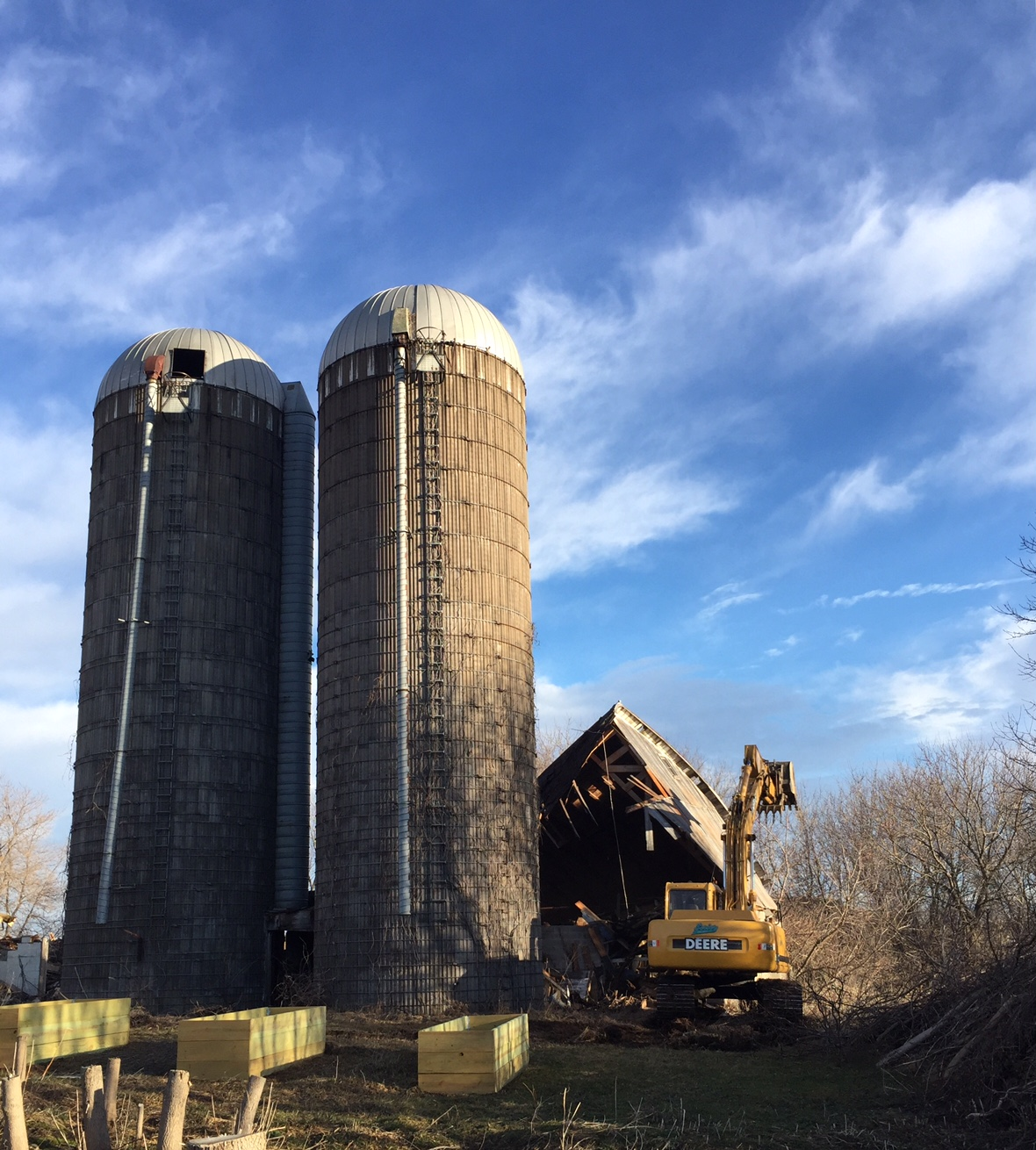 Old barn demolition, Homestead Monthly: Feb + March {maple syrup, apple pruning, and homestead expansion} | Whole-Fed Homestead