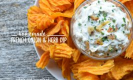 Homemade French Onion & Herb Dip Recipe