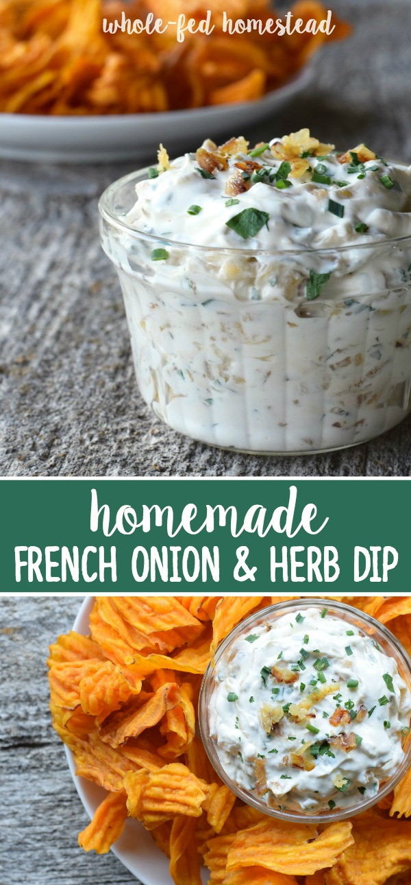 Homemade French Onion & Herb Dip Recipe   Whole-Fed Homestead