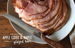 Apple Cider & Maple Glazed Ham Recipe