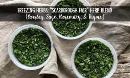 "Freezing Herbs: ""Scarborough Fair"" Herb Blend (Parsley, Sage, Rosemary, & Thyme)"